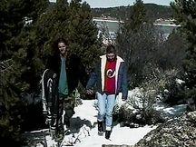 Figa bruna scopata sulla neve