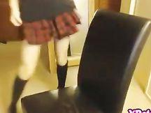 Studentessa gioca in cam