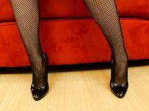 Ava Lauren in sexy lingerie nera