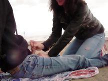Pompino in spiaggia a Riccione