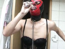 Sabine slave crossdresser cum