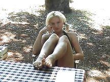 Sega con i piedi outdoor