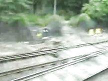 Bionda gli succhia il cazzo in treno