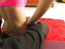 Sexy lapdance in leggins neri