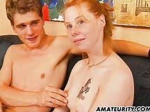 Rossa fidanzata amatoriale tedesca