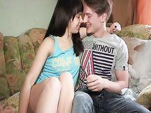 Giovane coppietta russa amatoriale
